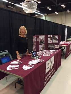 Dr. Tammy Cranfill at expo table