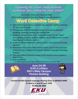 Word Detective Camp